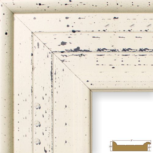 Craig Frames 81378600, Weathered Off-White Picture Frame, 8 by 10-Inch