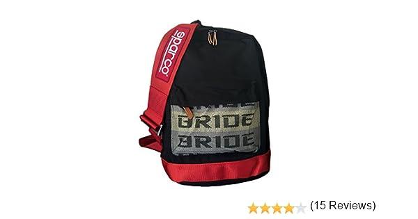 Bride mochila Sparco 2017 JDM con arnés de carreras rojo y verde ...