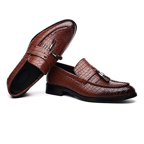 Low pelle Scarpe di PU Slip Scarpe Pelle shoes Top Xujw Marrone serpente Colore on in Traspirante dimensione Foderato stringate uomo basse 40 Mocassini Texture alti 2018 da Oxford Marrone EU 7wRxqEzv