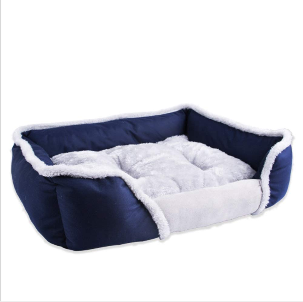 Dark bluee Small Dark bluee Small Pet Supplies Pet Nest Creative Pet Nest Warm Portable Autumn And Winter Warm Dog Bed (color   Dark bluee, Size   S)