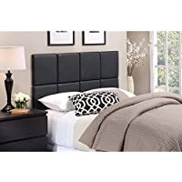 Foremost Tessa THT-61013-PU-BLK-TWN 46.50-Inch by 31-Inch PU with Tuft Headboard Tiles, Twin, Matte Black