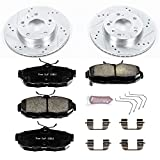 Power Stop K6319 Front Z23 Evolution Brake Kit with Drilled/Slotted Rotors and Ceramic Brake Pads