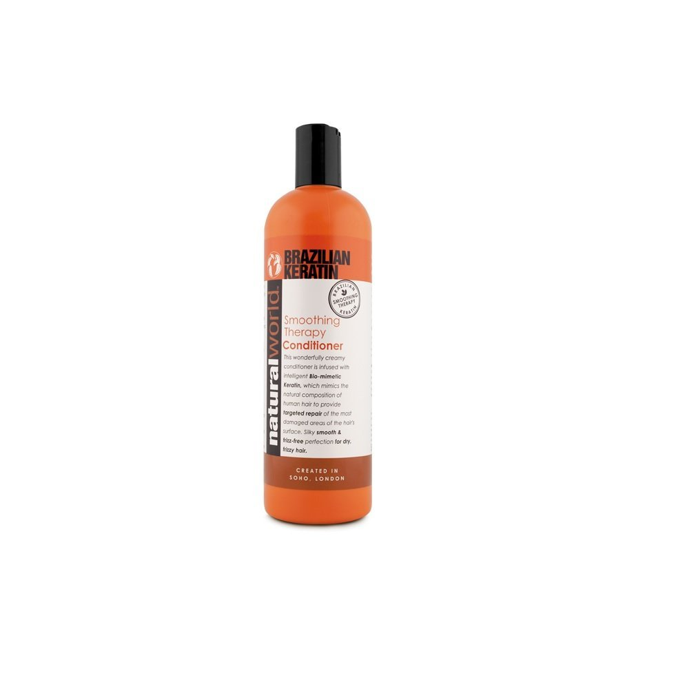 Natural World 500ml Brazilian Keratin Smoothing Therapy Anti-Frizz Condtioner Organic World 09023NAT