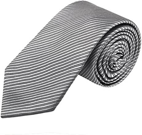 Alizeal Men's 8CM Width Stripes Formal Self Tie Neckties
