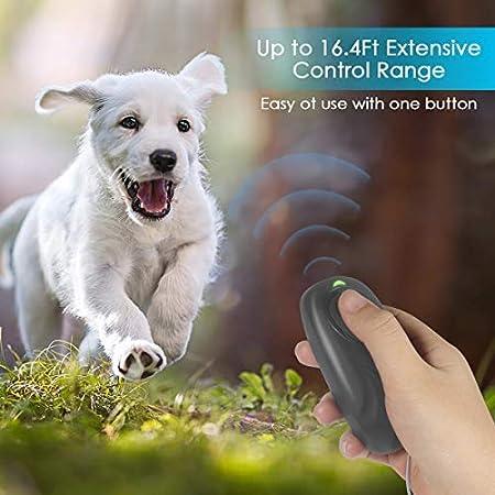 Handheld Dog Repellent Portable Bark Deterrent Humutan Anti Barking Device Safety Stop Barking Tool with Adjustable Level for Indoor Outdoor