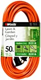 Woods 0723 16/2 Vinyl SJTW General Purpose Extension Cord, 50-Foot, Orange