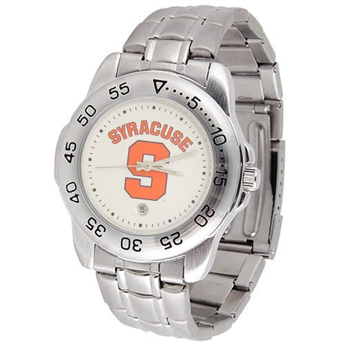 NCAA Syracuse Orange Men's Gameday Sport Watch with Stainless Steel Band