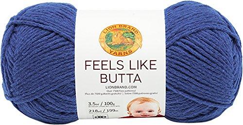 Lion Brand Yarn 215-109 Feels Like Butta Yarn, Royal Blue