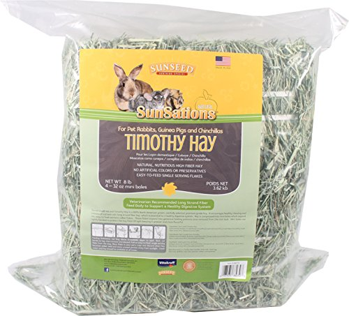 Vitakraft Sunseed Sun Seed Company Sss88070 Sunnatural Select Sweet Grass Small Animal Timothy Hay, 128-Ounce