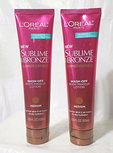 L'Oreal Sublime Bronze Summer Express Wash-Off Lotion in Light, 3.55 Fl Oz (2-Pack) ()