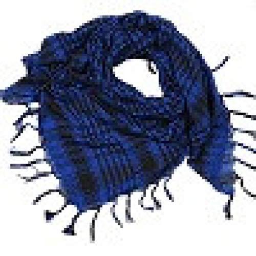 Oksale 1PC Unisex Fashion Women Men Arab Shemagh Keffiyeh Palestine Scarf Shawl Wrap (Blue)