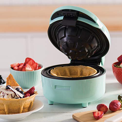 DASH Waffle Bowl Maker: for Individual Waffle Belgian Taco Chicken & Waffles, other Sweet or Savory -