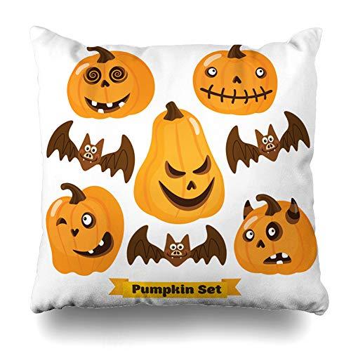 Suesoso Decorative Pillows Case 18 X 18 Inch Halloween Pumpkin SetThrow Pillowcover Cushion Decorative Home Decor Nice Gift Garden Sofa Bed Car]()