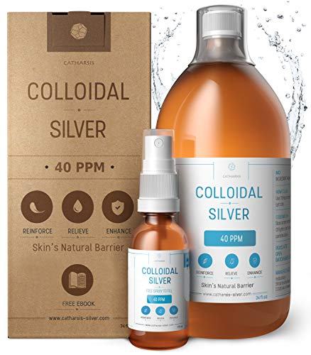 Premium 100% Natural Colloidal Silver 34oz 40 PPM+ Spray to Fill ✅Superior Concentration, Smaller Particles = Better Results ✅Certified by 3 Laboratories ✅We Proudly Manufacture our Product ✅Catharsis (Certify Your Dog As A Service Dog)