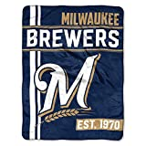 MLB Milwaukee Brewers Micro Raschel Throw, One Size, Multicolor