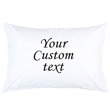 PERSONALISED Pillow Case ANY CUSTOM TEXT printed Custom Made Print Pillow  cover Pillowcases Gift Pillow custom PRINTED Pillow
