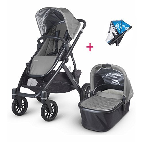 2017 Uppababy Vista Pascal Stroller with Bassinet & Rain Cover