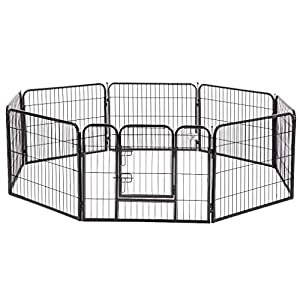 "BestPet Pet Playpen 8 Panel Indoor Outdoor Folding Metal Protable Puppy Exercise Pen Dog Fence,24"",32"",40"" 8"