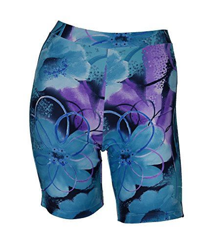 Private Island Hawaii Women UV Rash Guard Skinny Shorts Pants Leggings, Workout Outdoor Yoga/Fitness/Running Clothing (XXX-Large, Jade Violet)