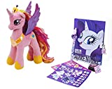 My Little Pony Princess Cadence My Little Pony Plush Toy (20cm) with My Little Pony Secret Diary Set (Diary with Lock and Key 60 Sheets, Click Pen, Stamp Pad, Stamper, 2 Sticker Sheets