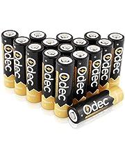 Odec AA Piles Rechargeables 2450 mAh, Accus 1,2V Ni-MH, 1200 cycles de charge, lot de 16