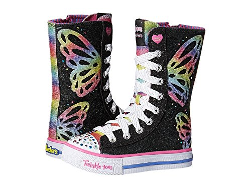 Skechers Kids Twinkle Toes Shuffles Tall High Top Light-U...