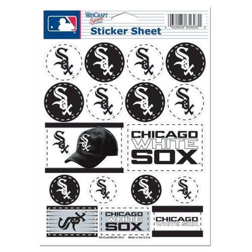 """MLB Chicago White Sox Vinyl Sticker Sheet, 5"""" x 7"""""""