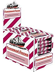 Unbekannt Fisherman 's Friend Cherry | cartón con 24bolsas | cereza y Mentol Sabor, libre de azúcar para aliento fresco