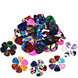 60 Pack Abstract Art Colorful Guitar Picks,Unique Guitar Gift For Bass, Electric & Acoustic Guitars Includes 0.46mm, 0.71mm, 0.96mm