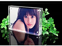 Standing Magnetic Clear Acrylic Perspex Photo Frames Block(3.5x5\