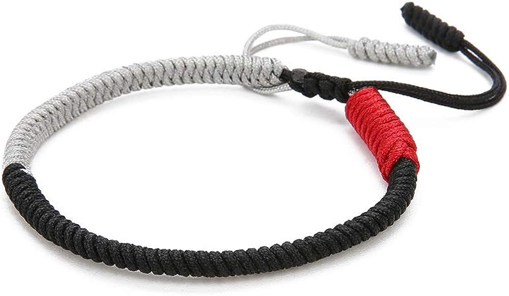 BALIBALI Woven Bracelet Hand-Knitted Woven Bracelet Hand-Knitted Lucky Rope Bracelet Tibetan Buddhist Traditional Wristbands Wrist Cuff Bracelets Adjustable