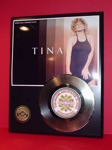 Tina Turner 24Kt Gold Record LTD Edition Display Gold Record Outlet