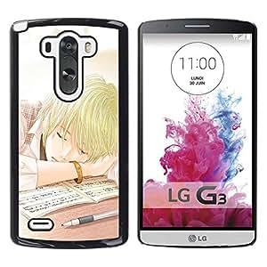GOODTHINGS Funda Imagen Diseño Carcasa Tapa Trasera Negro Cover Skin Case para LG G3 D855 D850 D851 - Anime japonés niño de la escuela cómica