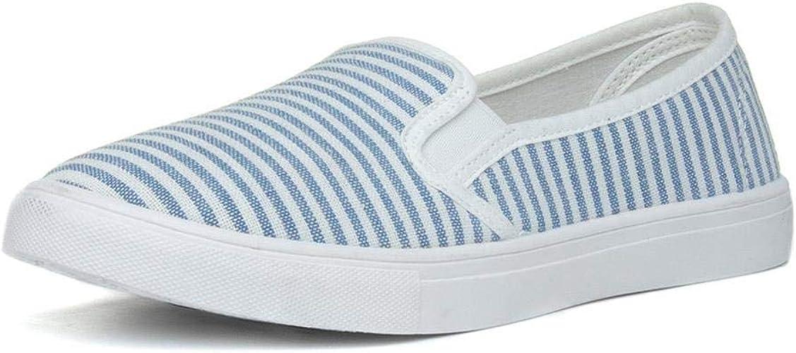 Lilley Womens White \u0026 Blue Stripe Slip