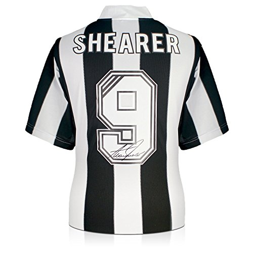 Alan Shearer Back Signed Newcastle 1996 Soccer Jersey | Autographed ...