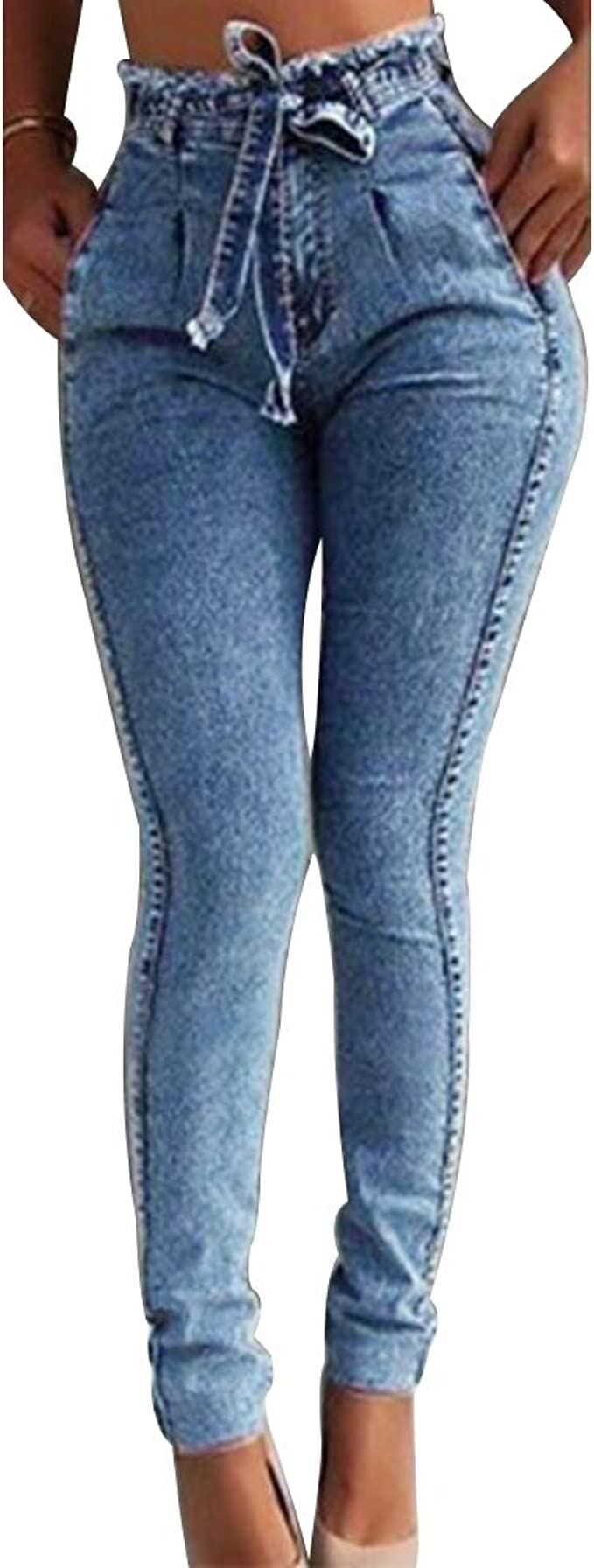 Mibuy Leggings Vaqueros Pantalones Para Mujeres 2020 Cintura Alta Ajustados Tallas Grandes Push Up De Mezclilla Delgado Jeans Skinny Slim Stretch Pantalones Largo Mujer Mujer Pantalones Y Pantalones Cortos