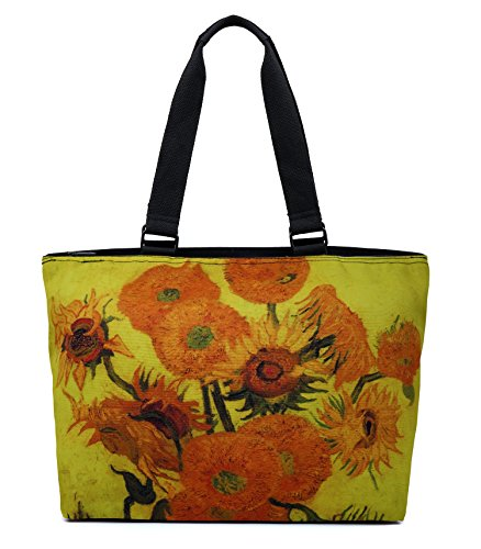 ous Large Travel Shoulder Tote Bag Handbag - Van Gogh Sunflowers ()