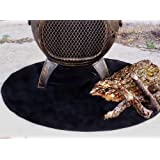 fire resistant chiminea outdoor fireplace pad round - Fireplace Rugs
