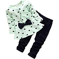bomdeals adorable Cute bebé Baby Girl Ropa 2pcs parte superior & Pantalones Trajes