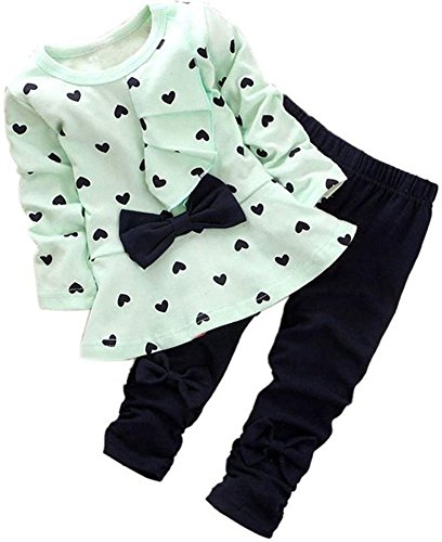 BomDeals Adorable Cute Toddler Baby Girl Clothing 2pcs top&Pants Winter Outfits ()