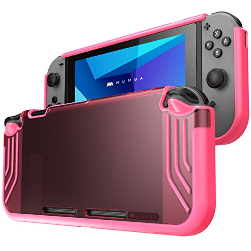 Mumba case for Nintendo Switch, [Slimfit Series] Premium Slim Clear Hybrid Protective Case for Nintendo Switch 2017 release (Pink)