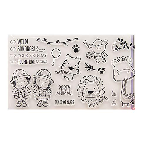 Animals Clear Stamps - GIMITSUI Store Clear Stamp Silicone DIY Paper Craft (Cute Animal)