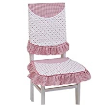 Country Style Chair Slipcover Lace Romantic Cover, Pink/ White
