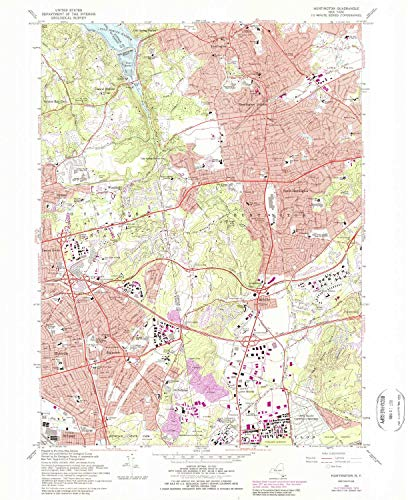 YellowMaps Huntington NY topo map, 1:24000 Scale, 7.5 X 7.5 Minute, Historical, 1967, Updated 1989, 27 x 22 in - ()