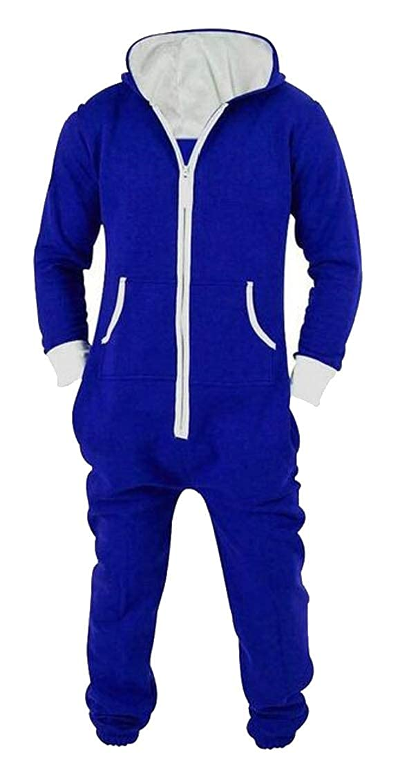 Generic Men's Jumpsuit One Piece Non Footed Pajama Playsuit Onesie Jumpsuit