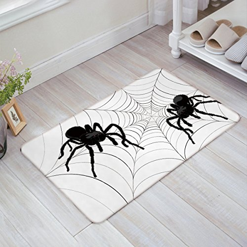 Custom spider web design Entrance Rug Indoor/Outdoor/front door/Entry Way Bathroom - Custom Design Web