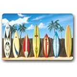 New Hot Wind Beach Surfboard Indoor/Outdoor Doormat Door Mat Machine-washable Floor/Bath Decor Mats Rug