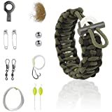 The Friendly Swede Multi-purpose Paracord Bracelet with Survival Kit (9 Accessories Included)