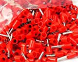 Tool Parts 1000pcs 18 AWG 1.0mm2 Insulated Cord End Terminal Wire Ferrules E1008