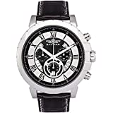 Balmer Swiss Chronograph Atalante Mens Watch - Navy Leather Strap, Rose Gold Case, Silver